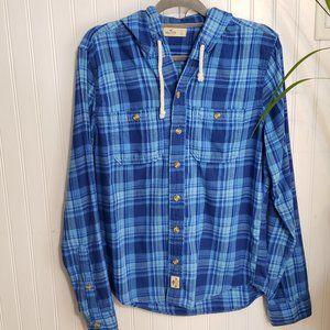 Hollister 100% Cotton Long Sleeve Hooded Shirt
